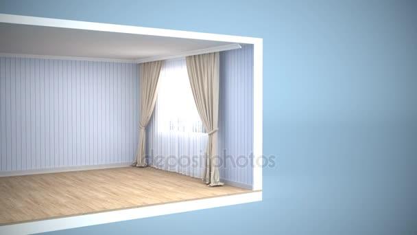 Interiér ložnice. 3D obrázek