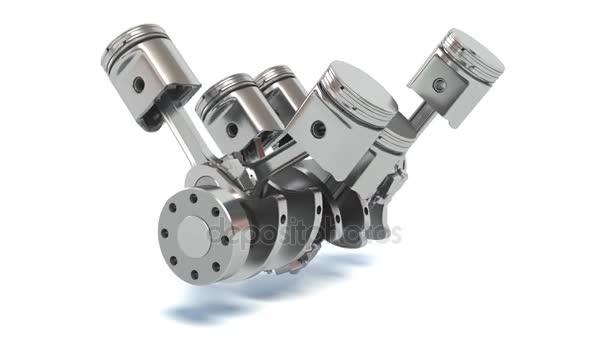 Písty motoru v6. 3D