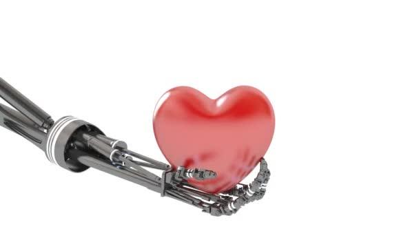 szív robot kezét. 3D-s illusztráció