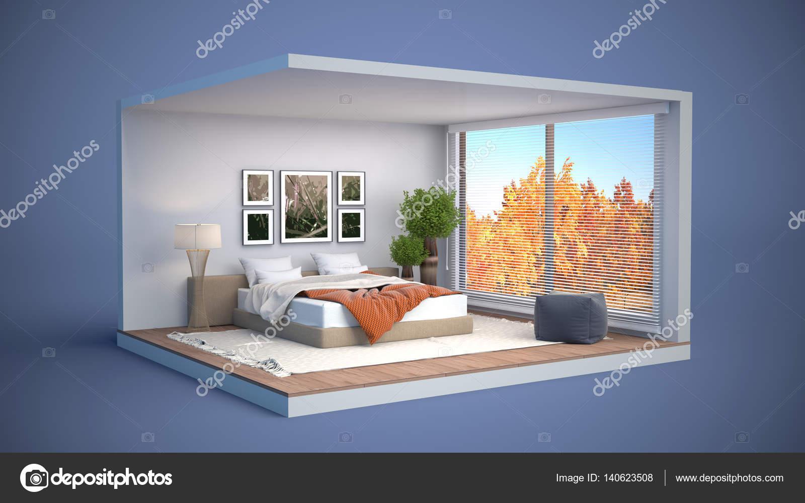 Int rieur de chambre coucher illustration 3d for Interieur de chambre a coucher
