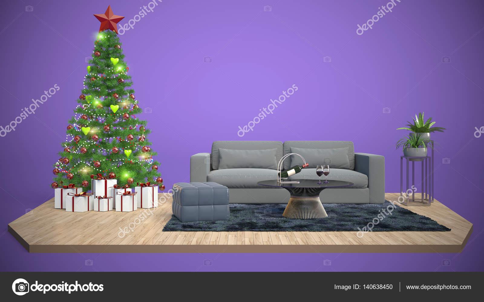 Rbol De Navidad Y Muebles Ilustraci N 3d Foto De Stock  # Muebles Cuento De Hadas