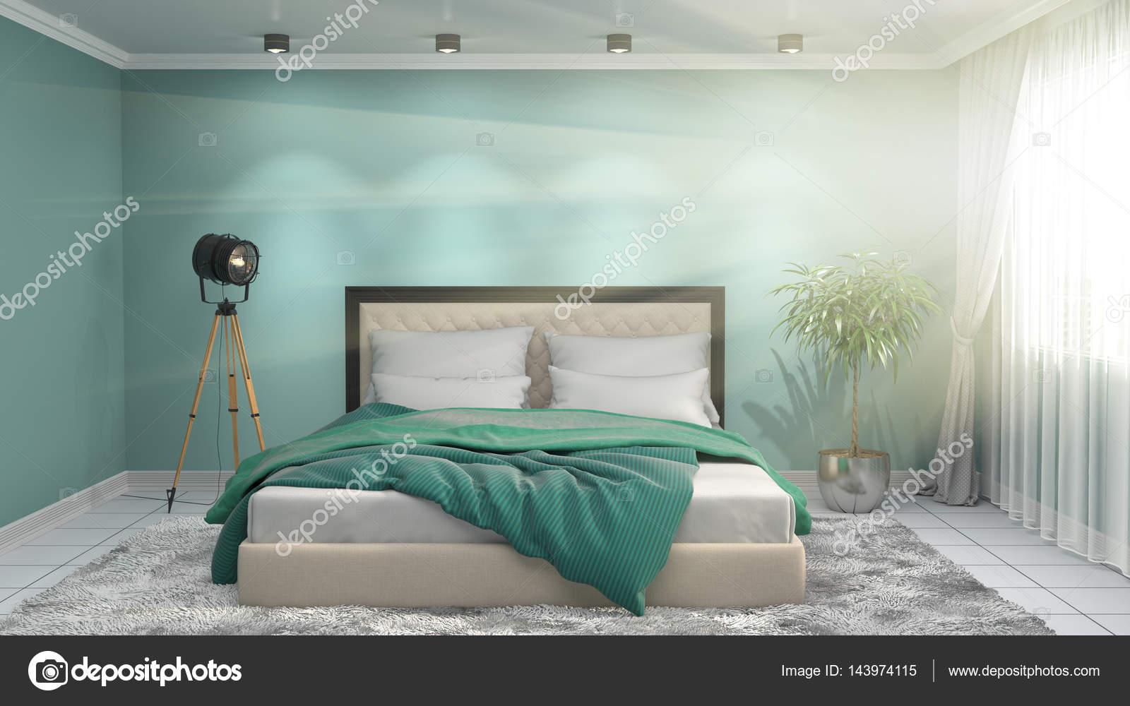 Int rieur de chambre coucher illustration 3d photo for Interieur chambre a coucher
