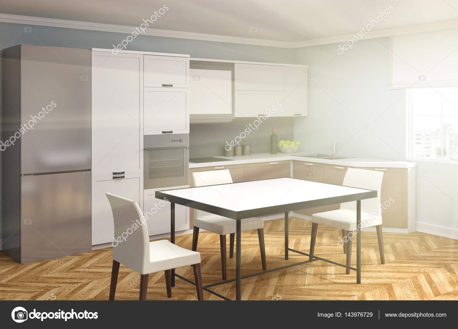 Küche Interieur. 3D-Illustration — Stockfoto © StockerNumber2 #143976729
