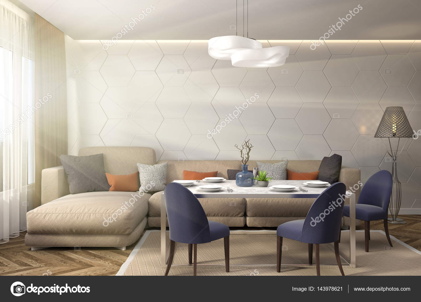 K che interieur 3d illustration stockfoto 143978621 for Interieur 3d