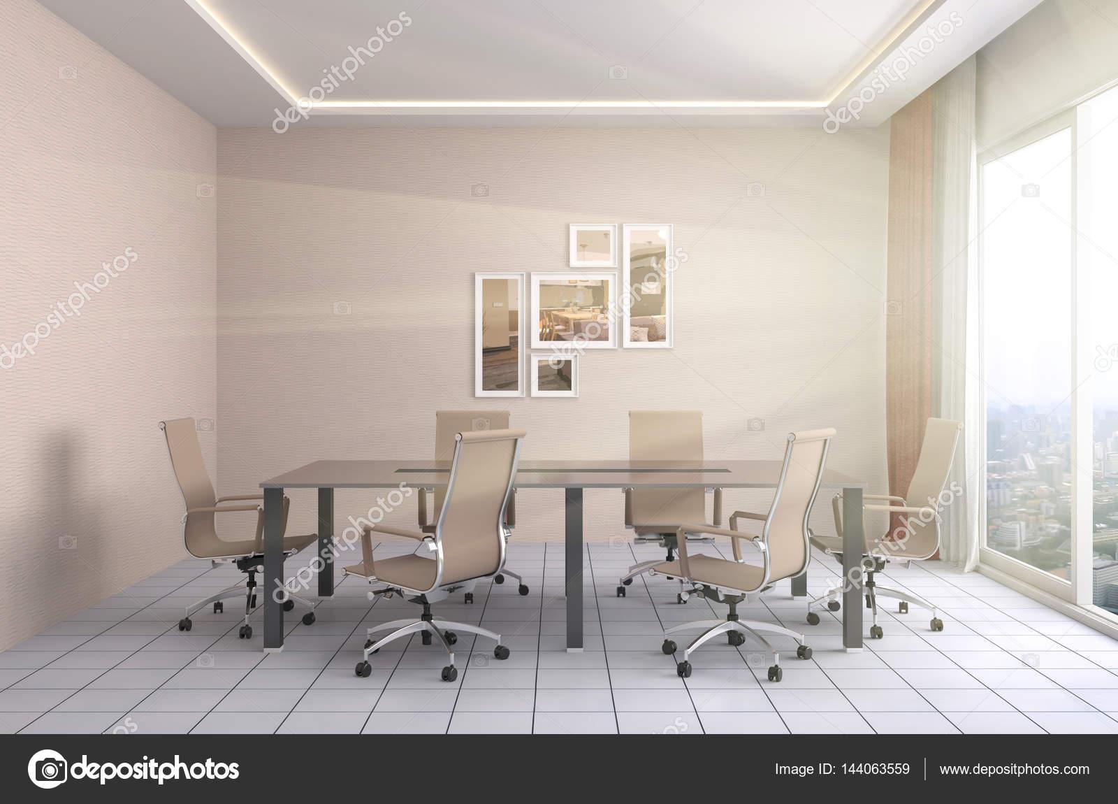 Office interior  3D Illustration — Stock Photo