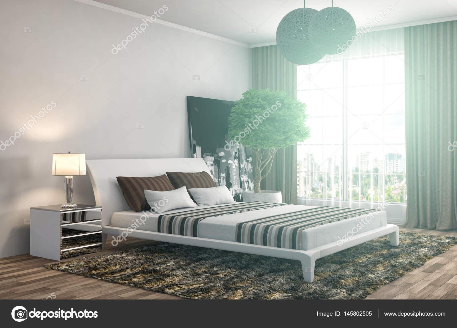 Int rieur de chambre coucher illustration 3d photo for Chambre a coucher 3d