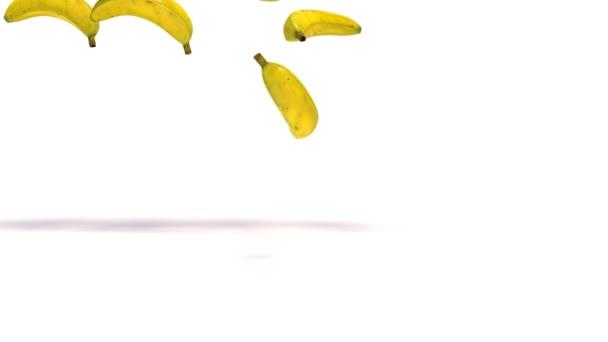 Banana isolated on white background. 3d illustration