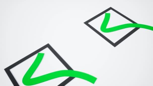 Checkliste. Grüne Zecken. 3D-Illustration