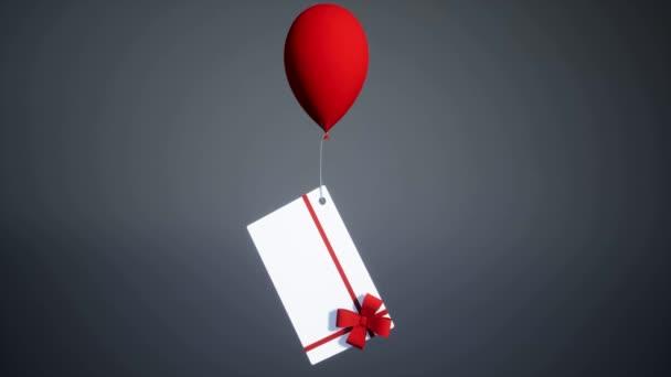 ajándékok kötött lufit csomagolnak. 3d illusztráció