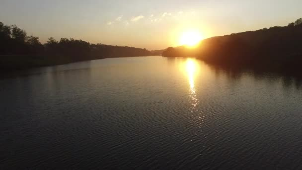 Calm lake on a sunrise