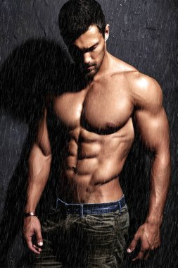 strong healthy handsome Athletic Man Fitness Model