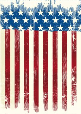 American poster grunge flag
