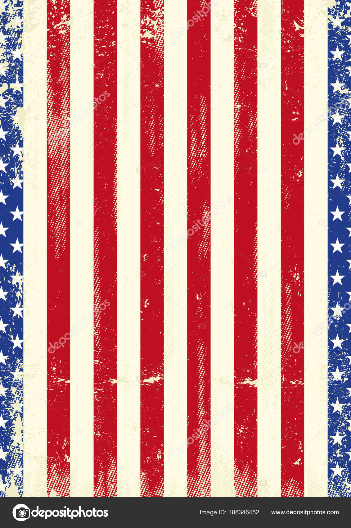 A grunge american poster for your — Vector by ...