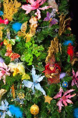 Texture fir tree new year postcard