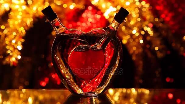 Üveg szív Valentin-nap