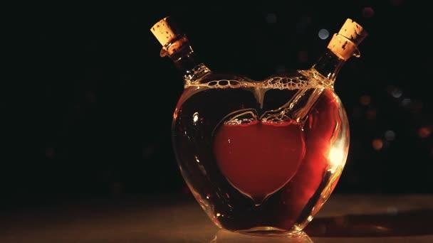 Glas Herz Valentinstag