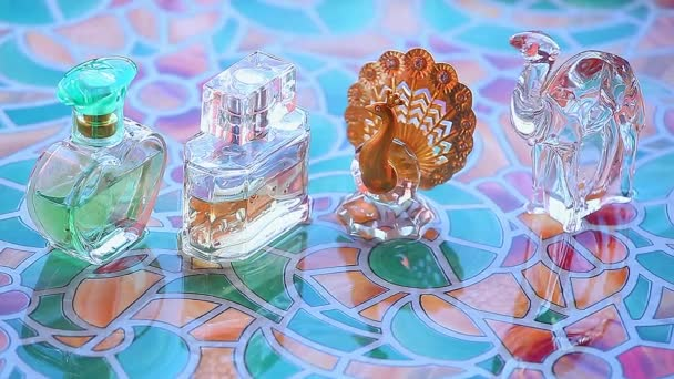 glass perfume bottle spring fog