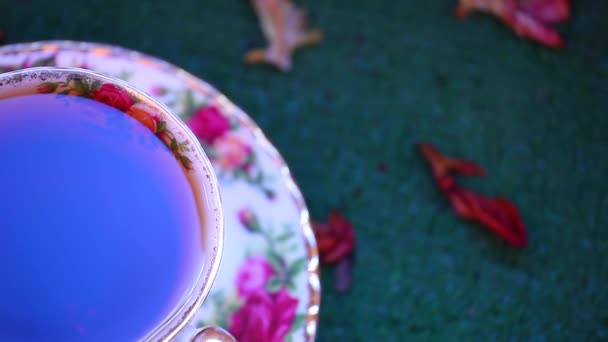 Ranní anglický černý čaj záběry