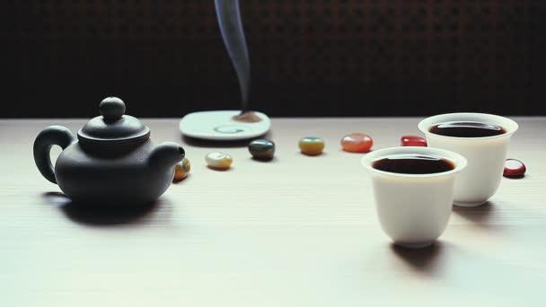 Černý čínský čaj záběry