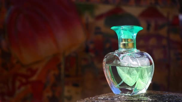Glass Perfume Bottle Footage