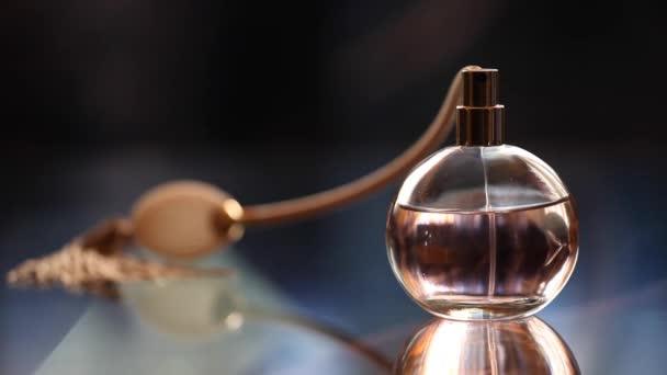 Glass Perfume Bottle Footage