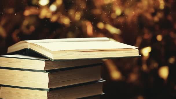 könyv szél por arany bokeh hd felvételek