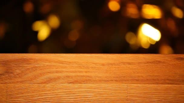 fa asztal arany bokeh sötét háttér hd felvételek