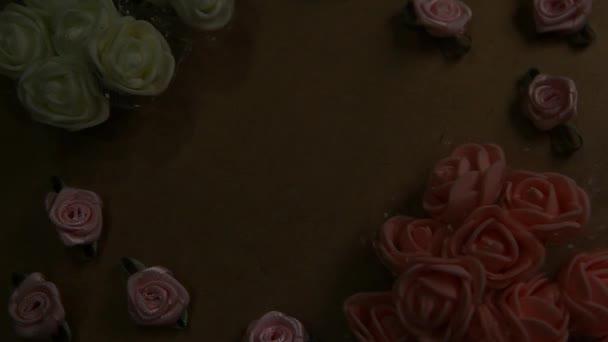 papír rózsa virág pergamen háttér hd felvételek