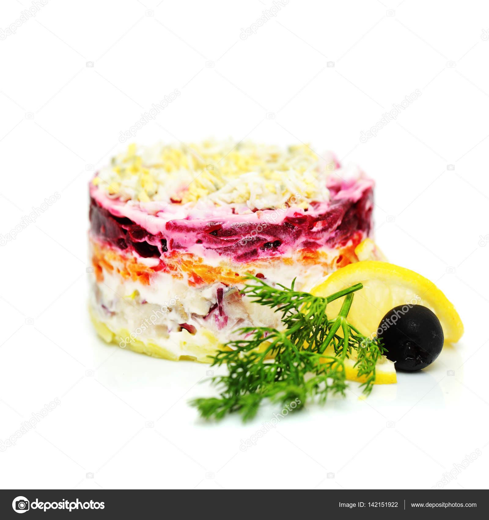 Salade de la cuisine traditionnelle russe hareng habill sous le manteau photographie - Cuisine traditionnelle russe ...