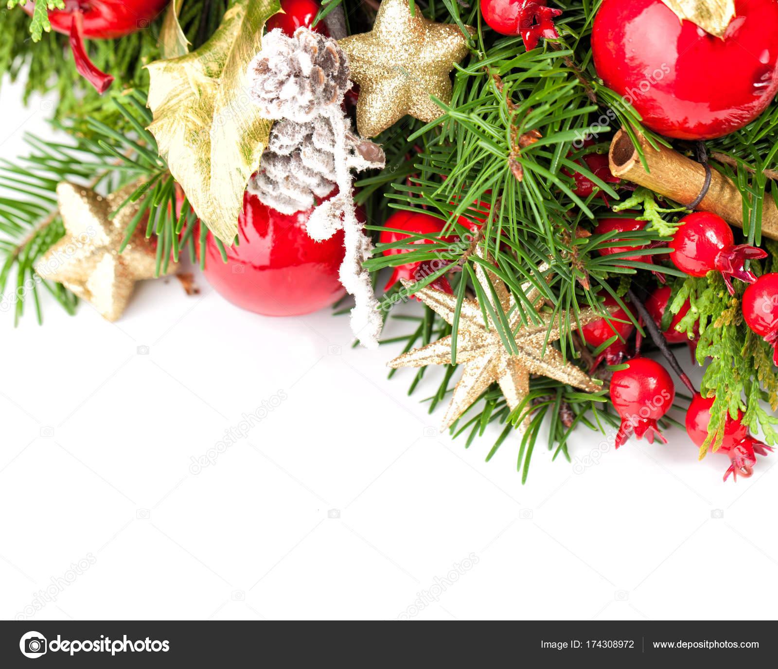 Beautiful Christmas Background.Beautiful Christmas Background Border Of Xmas Decoration