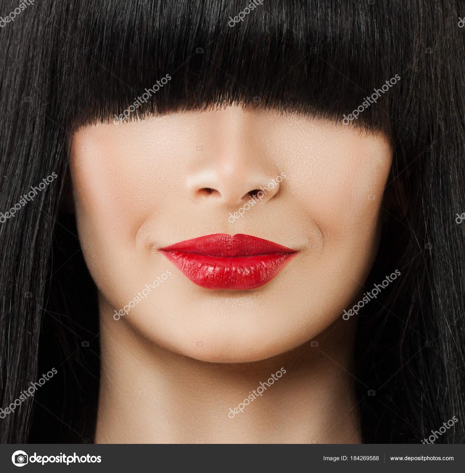 Rouge RougesBelles Avec À Du Macro De Lèvres Femmes pSUzMV
