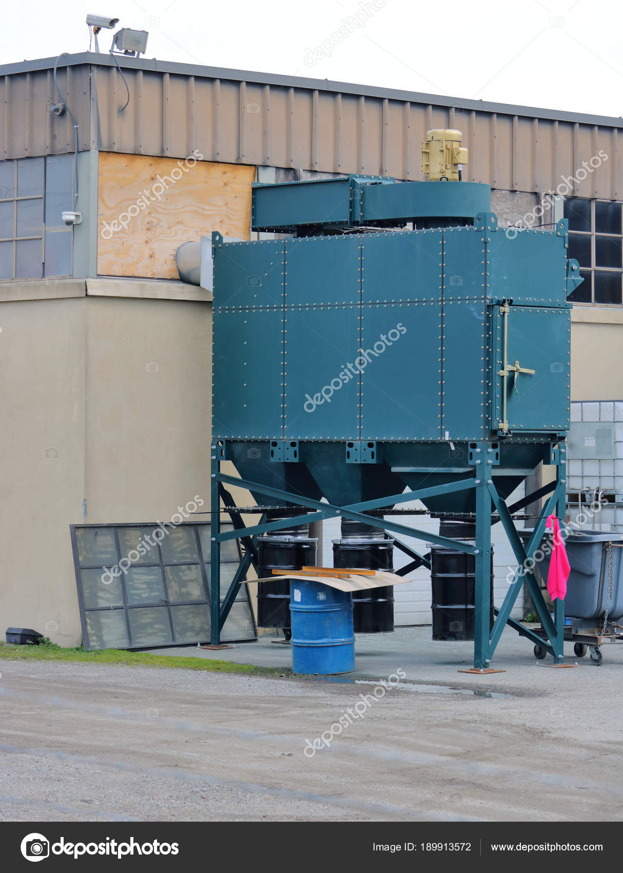 Vertical View Machine Used Remove Soot Dust Other Pollutants