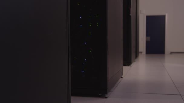 Datenserver mit Lichter blinken