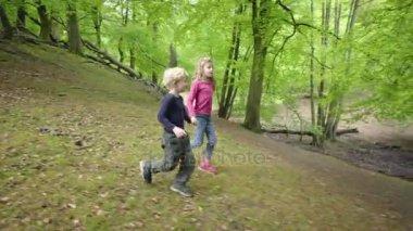 Two Walking In Forest Children