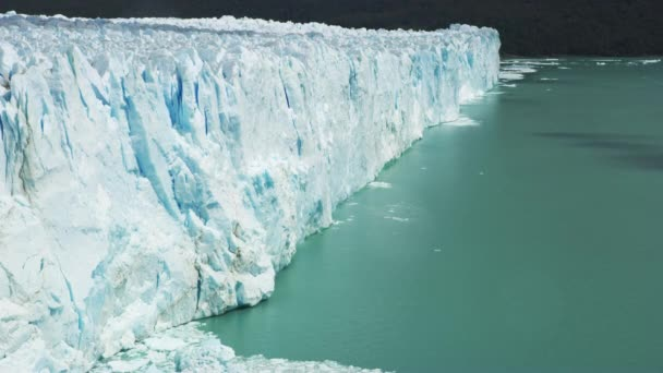 Glacial Ice in El Calafate and Shadows Passing Through Glaciers in Timelapse