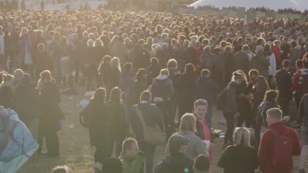 Defocused to Focused Shot of Northside Festival's Attendees