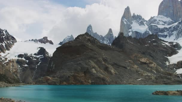 Panoramic Shot of the El Chalten Mountain Range in Santa Cruz, Argentina
