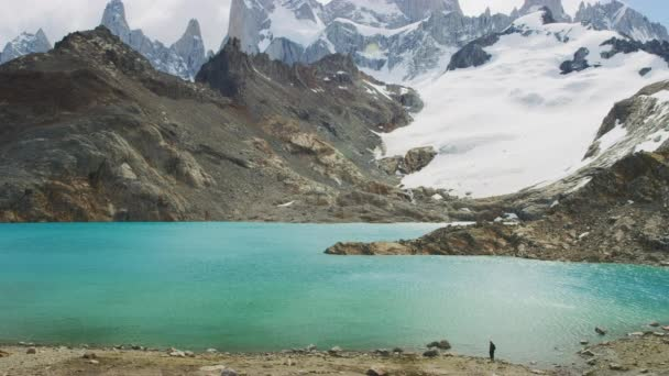 Scenic View of Crystal Clear Lakes by the Foot of the El Chalten Mountain Range