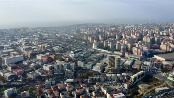 Pull in Aerial Shot of the Beautiful City of Istanbul and Its Surrounding Buildings