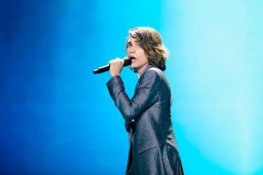 Isaiah  from Australia during Eurovision Song Contest