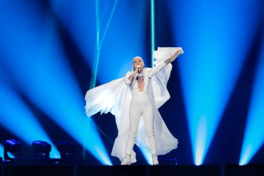 Svala from Iceland at the Eurovision Song Contest