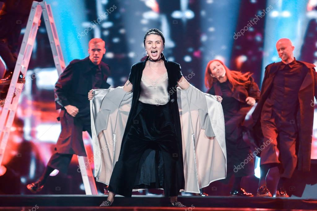 Dihaj from Azerbaijan  at the Eurovision Song Contest