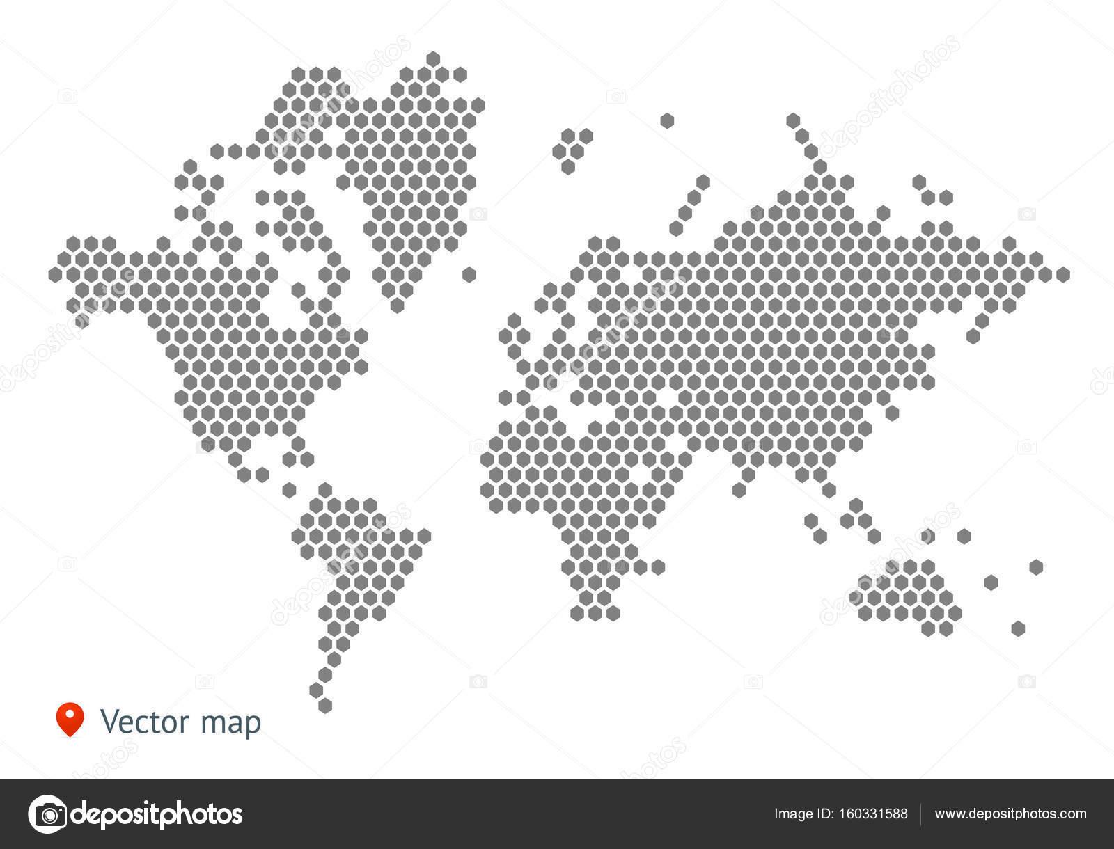 Abstract Map Of The World.Abstract Map Of The World Stock Vector C Uzhveko 160331588