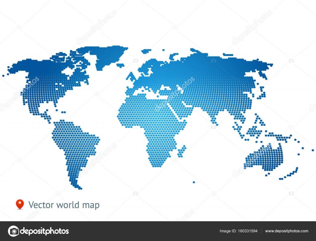 Abstract Map Of The World.Abstract Map Of The World Stock Vector C Uzhveko 160331594