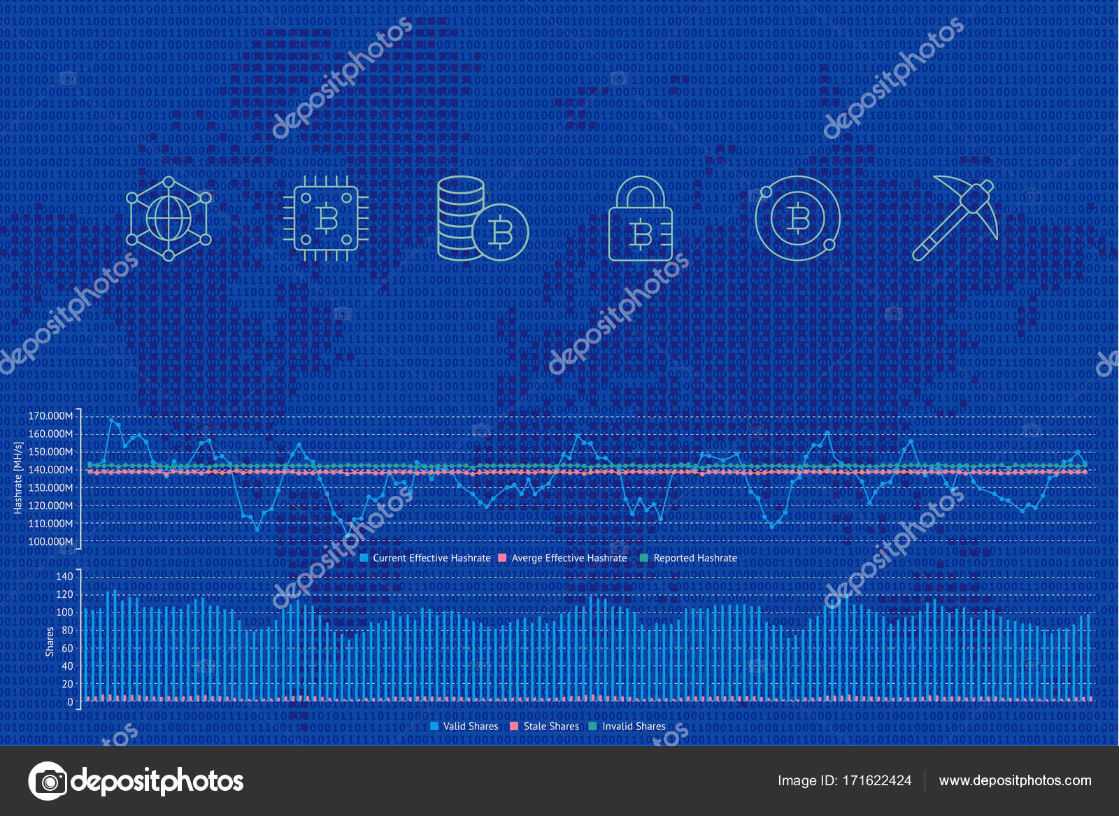 Blockchain background with icons stock vector uzhveko 171622424 blockchain vector illustration background with icons graphs and diagram on a world map background crypto currency bitcoin etherium dash litecoin gumiabroncs Image collections