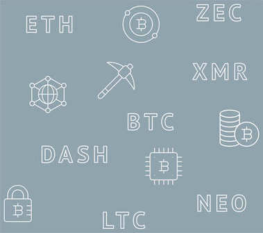 Cryptocurrency seamless pattern