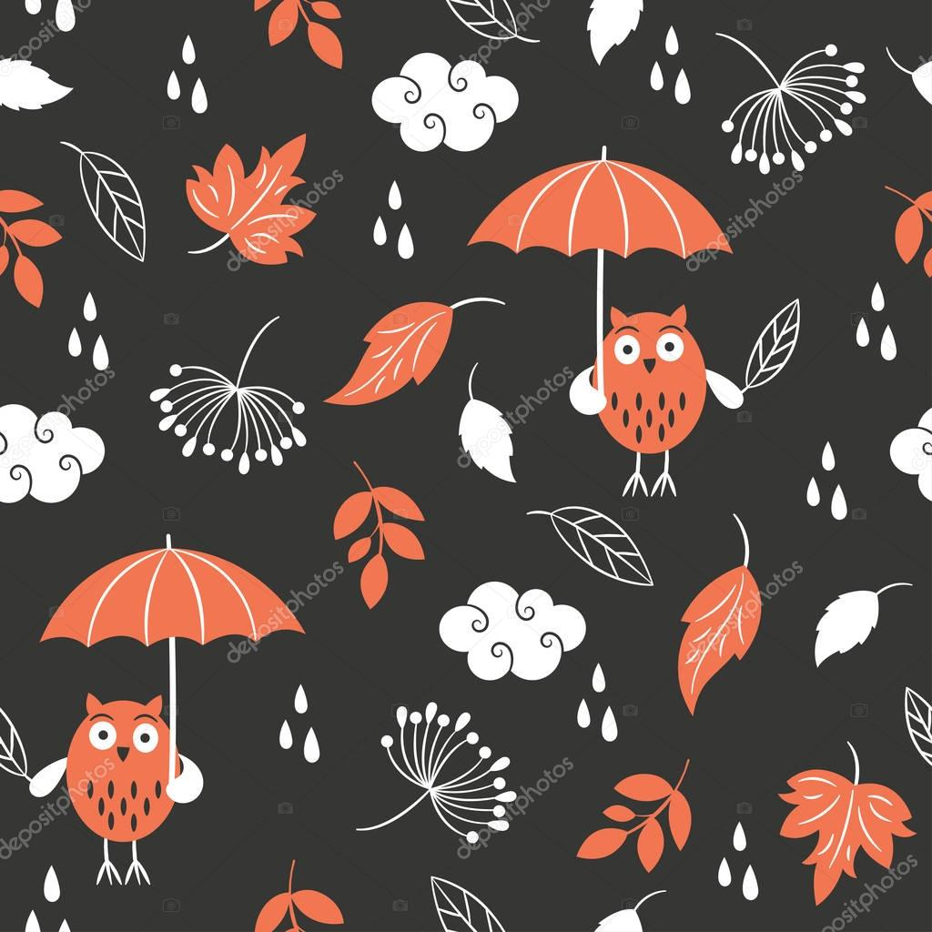 Seamless pattern. Autumn.