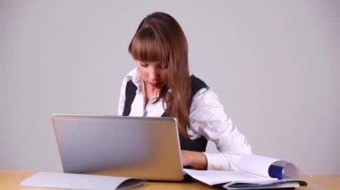 Business woman work
