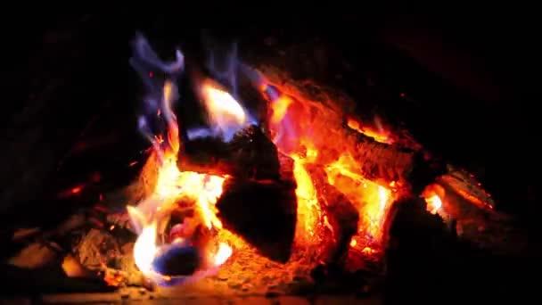 brandende openhaard