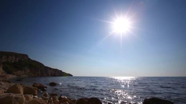 táj a tengerpart naplemente